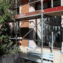 Fassaden Renovation, altes Mehrfamilienhaus, Basel