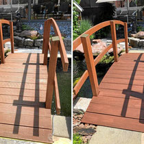lasierte Holzbrücke