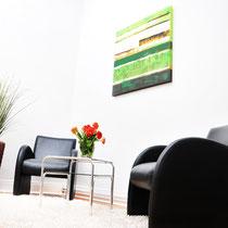 Sitzbereich in der Praxis Hamburg-Rotherbaum