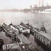 Senkkasten für Pfeiler II, Quelle: Stadtarchiv Duisburg