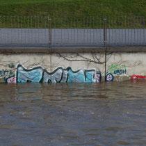 Überflutete untere Promenade, Aufnahmedatum 08.01.2018, Heike Marianne Liwa