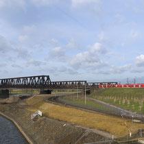 Ausbauphase des Rheinparks, Böschungsprofilierung an der Nordseite der Hafenmauer. Aufnahme-Datum: 01.02.2008