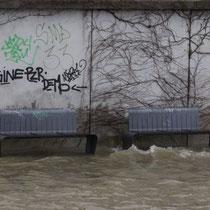 Überflutete untere Promenade, Aufnahmedatum 22.01.2018, Heike Marianne Liwa