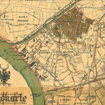 Ausschnitt der Jagdkarte der Duisburger Jagdgesellschaft 1891