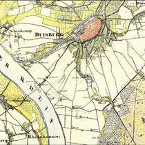 Ausschnitt Preussische Kartenaufnahme (Uraufnahme) 1835-1850