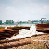 Grobbleche zur Verladung am Südhafen, Aufnahme-Datum: 20.05.1995