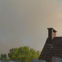 Rauchschwaden über Hochfeld und Wanheimerort. Aufnahme-Datum: 13.05.2029