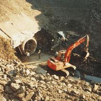 Hafenrückbau, Kanalrohrverlegung für die Dickelsbachverlängerung, Aufnahme-Datum: 1988