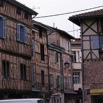 Beaucoup de maisons à colombages.