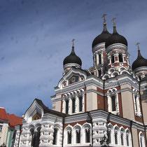 Façade de la cathédrale Alexandre Nevski