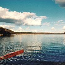 Die erste Bootstour auf dem See