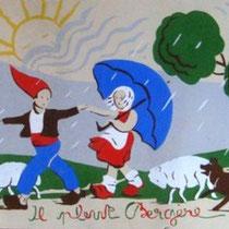 illustrations pochoir années 40