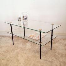 Table basse verre années 50