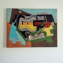 tableau cubiste vintage