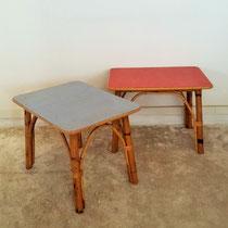 Paire de table basses/chevet rotin