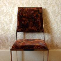 chaise chrome années 70 vintage