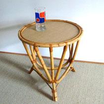 petite table tripode rotin