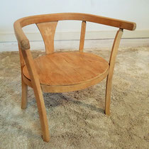 Petit fauteuil bois enfant vintage