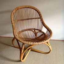 Fauteuil /loveuse rotin vintage