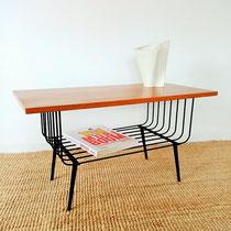Table basse compas années 50