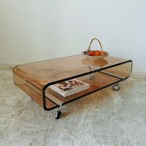Table basse plexiglas années 70 vintage