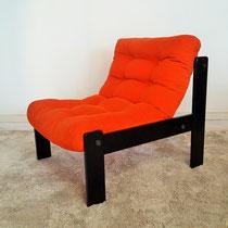 Fauteuil orange vintage années 70