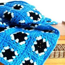 couverture crochet laine vintage