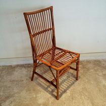 Chaise rotin vintage
