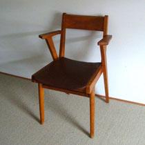chaise bridge à accoudoirs années 50