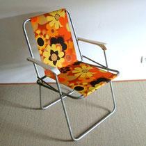 Séeie de 6 chaises de camping vintage