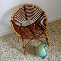 fauteuil rotin enfant spirale