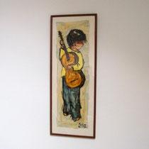peinture poulbot guitare