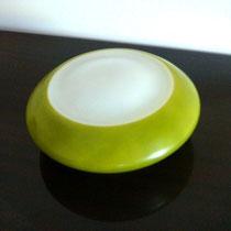 Plafonnier verre vert vintage
