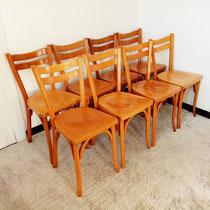 Suite de 8 chaises bistro Baumann