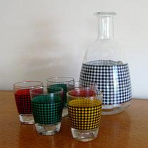 Service carafe et verres à liqueur vintage