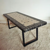 Grande table basse céramique vintage des années 50