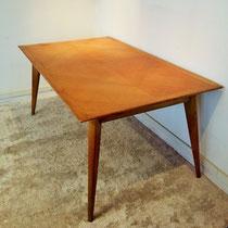 Table chêne compas vintage