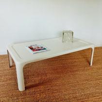 Table basse fibre de verre années 70