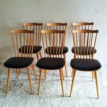chaises compas barreaux Baumann vintage