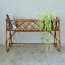 Jardinière porte plantes rotin vintage