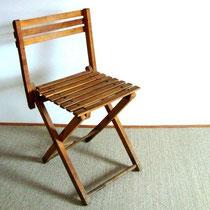 4 petites chaises pliantes vintage