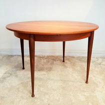 Table ronde teck vintage