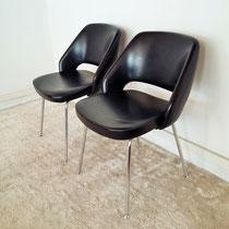 Paire de fauteuils style conférence vintage