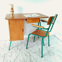 Bureau et fauteuil enfant vintage