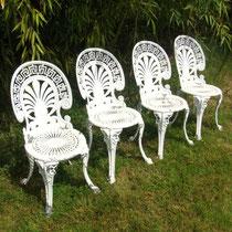 Chaises de jardin Rocaille en fonte d'aluminium