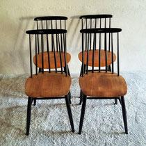 Série de 4 chaises type Tapiovaara vintage