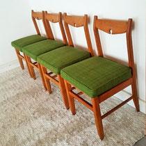 Série de 4 chaises Guillerme et Chambron vintage