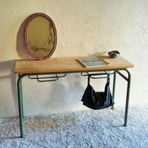 Console  / coiffeuse/ bureau d'école vintage