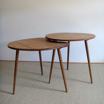 duo tables tripodes compas vintage