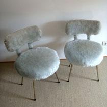 Chaises moumoutes vintage